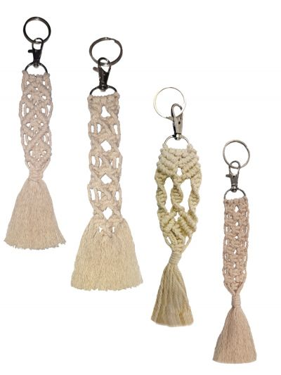 Macrame Key Chains Combos Pairs of 4