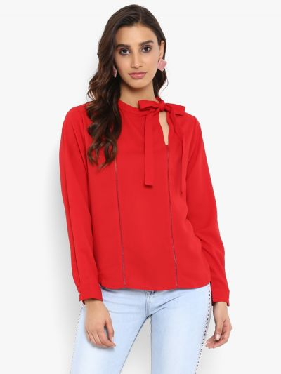 cheap women's tops ladies casual tops, floral printed tops, Buy Casual top online, stylish casual tops online, best casual clothes for ladies, fashionable tops for ladies, top for girl party wear, designer tops online, Fosh.shopping tops, red casual long