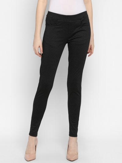 Black Checked Jeggings