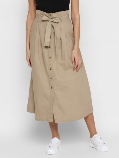 Fawn flared skirt with belt