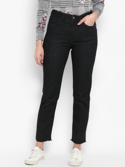 Black Stylish Fitted Jeans