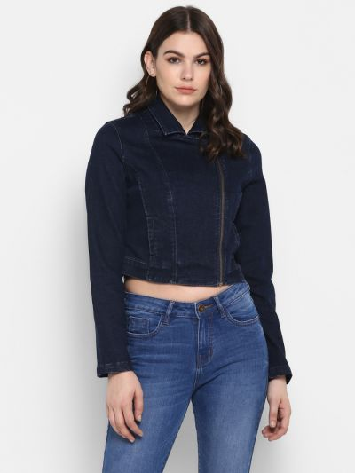 Navy Blue Side Chain Jacket