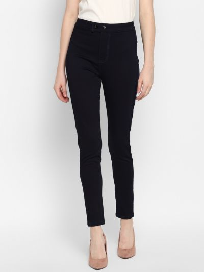 Navy Blue Slim Fit Mid-Rise Jeans
