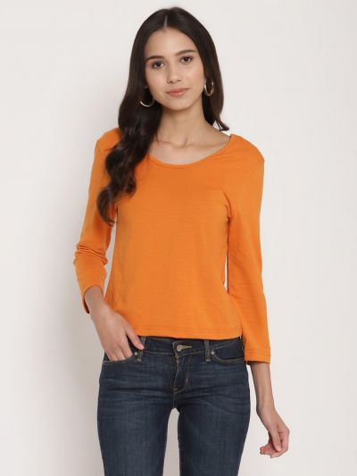 Rust fitted basic top